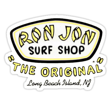 """ron jon the original yellow"" Stickers by maddie ️"