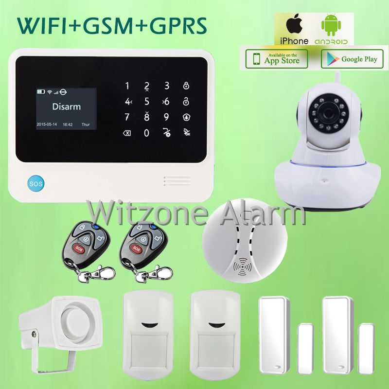 GSM WIFI alarm security systems G90B Android IOS APP
