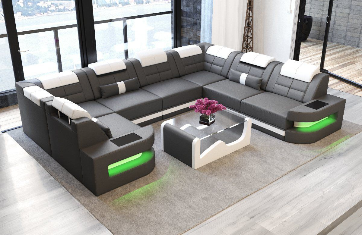 Couch U Form Grau Wohnlandschaft »como«, U Form | Ecksofa Design, Sofa Stoff, Sofa Set Designs