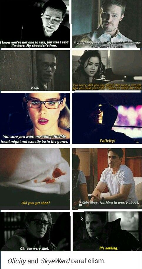 Skyeward and Olicity   two of my biggest ships right now  Marvel