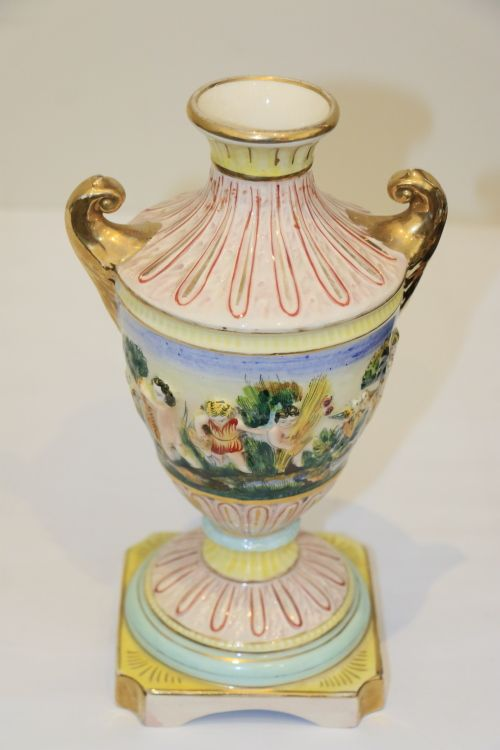 Vintage Capodimonte Vase 1947 Vintage