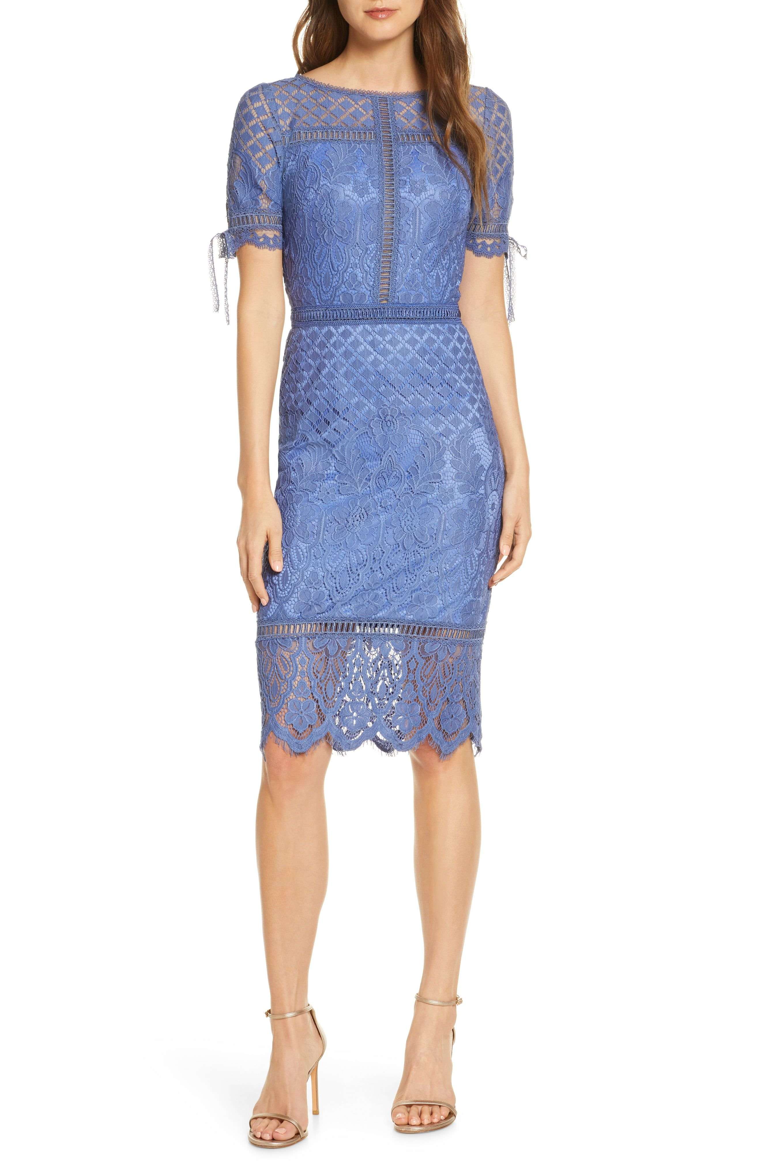Tadashi Shoji Tie Sleeve Lace Cocktail Dress Nordstrom Cocktail Dress Lace Lace Blue Dress Cocktail Dress [ 4048 x 2640 Pixel ]