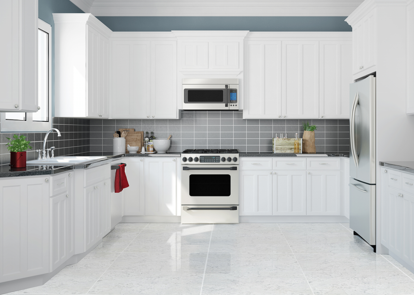 Piso alpone 55.5 x 55.5 cm blanco | Kitchens