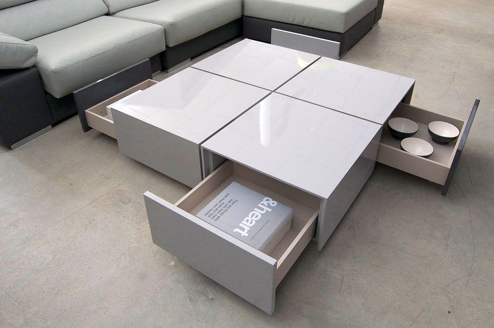 Mesas de centro blancas modernas buscar con google - Centro de mesa de comedor moderno ...