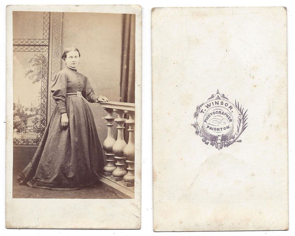 Details About Cdv Victorian Lady Carte De Visite Photograph By