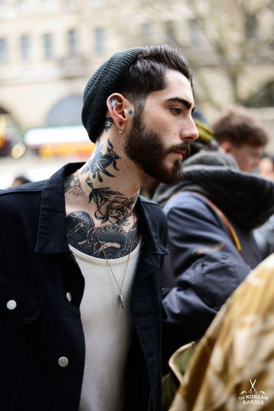 The korean barber men 39 s style pinterest korean man for Barber neck tattoos