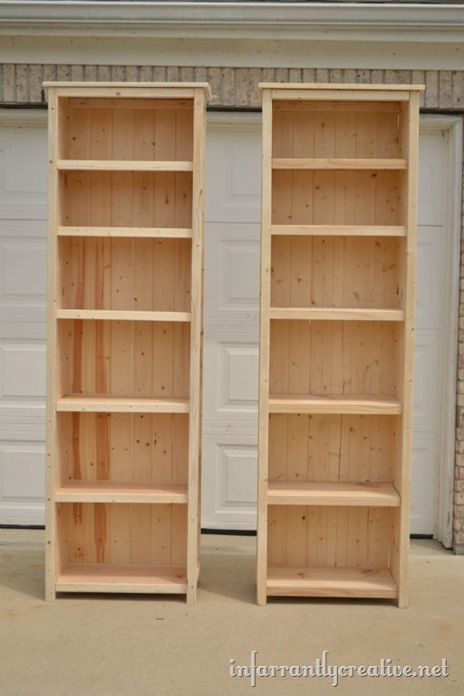 Make Your Own Wood Bookshelves So Gong To Do This Eventually I Have 2