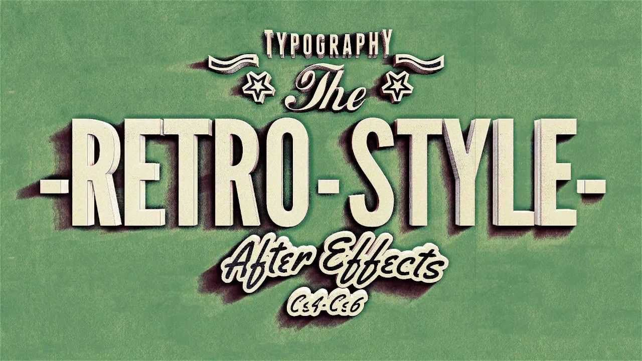 Kinetic Typography, Vintage Retro Style After effects Templates ...