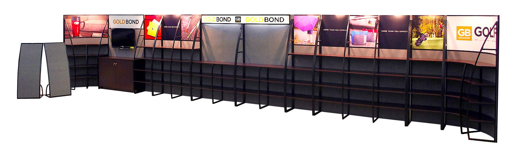 Custom Shelving Trade Show Display by Godfrey Group