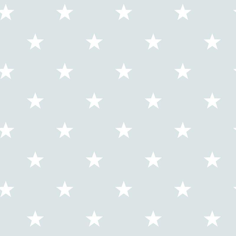 Duck Egg Blue Stars Wallpaper Bg Nursery Star
