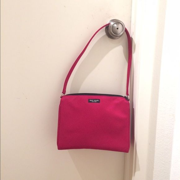 "Authentic Kate Spade Red Nylon Purse Darling Kate Spade Red Nylon Shoulder Purse ~ perfect condition, no marks. Dimensions: 9 1/4"" W x 7 1/4"" H x 3 1/2"" D No TradesPlease use offer tool ~ offers made in comment section will not be considered or addressedThank You ✨ kate spade Bags"