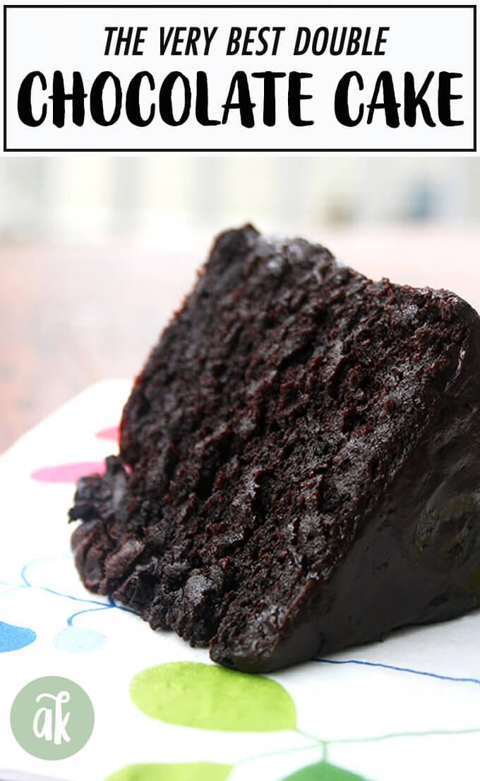 Double Chocolate Cake with Black Velvet Icing – Dessert Recipes