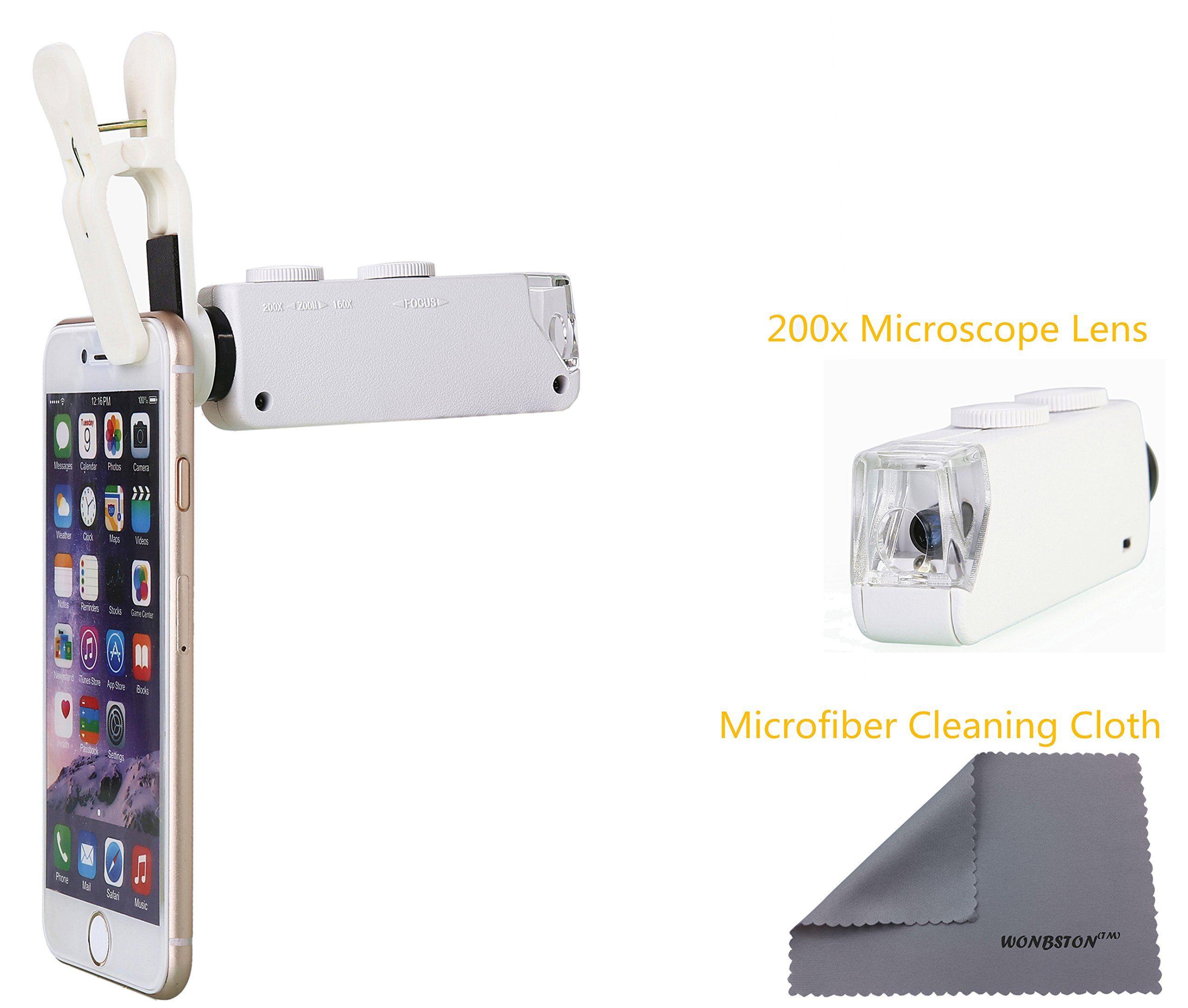 Amazon wonbsdom univsersal x zoom led clipon microscope