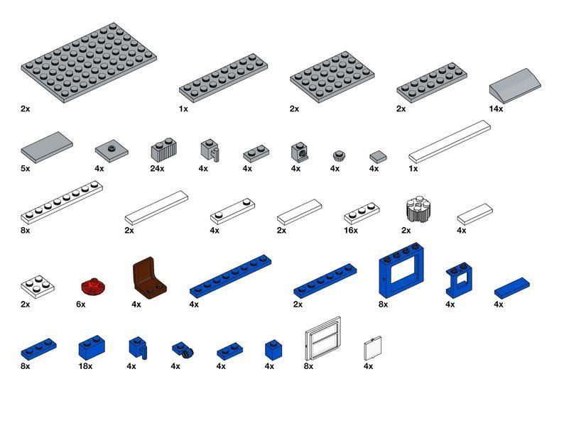 Passenger Car LEGO Train Building Instructions Digital
