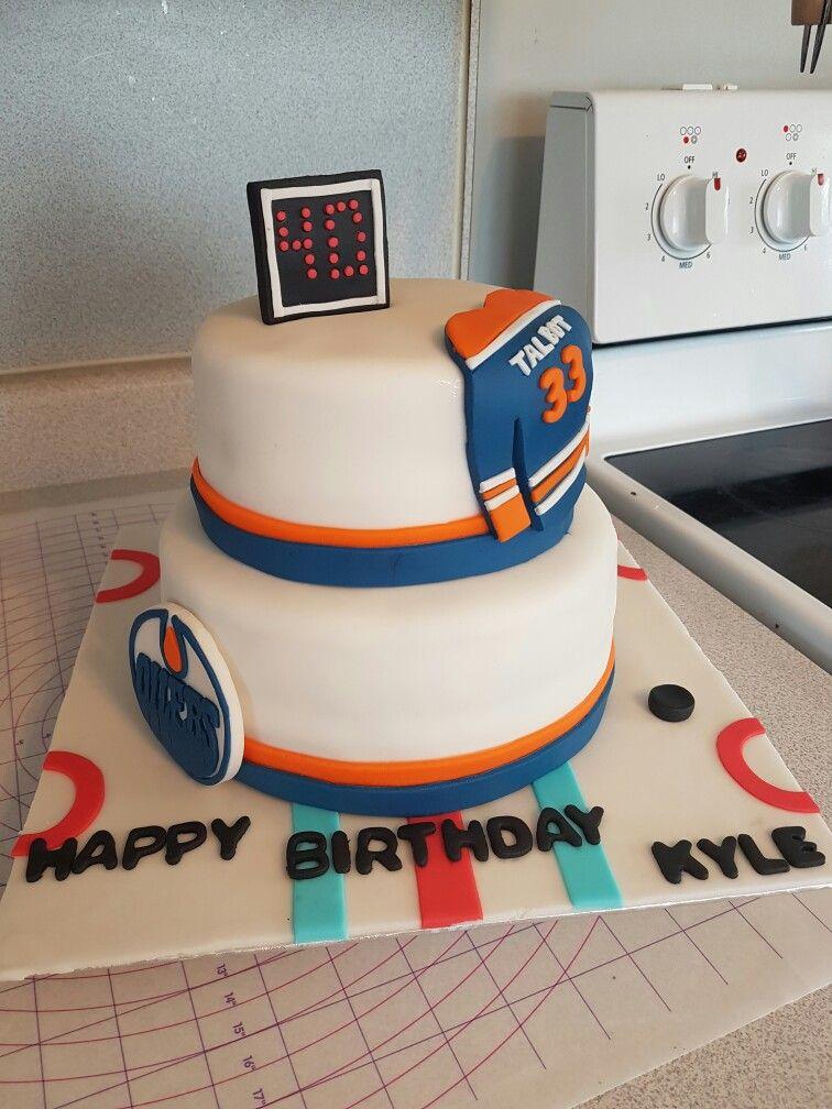 Oilers birthday cake fondant Cake Pinterest Birthday cakes