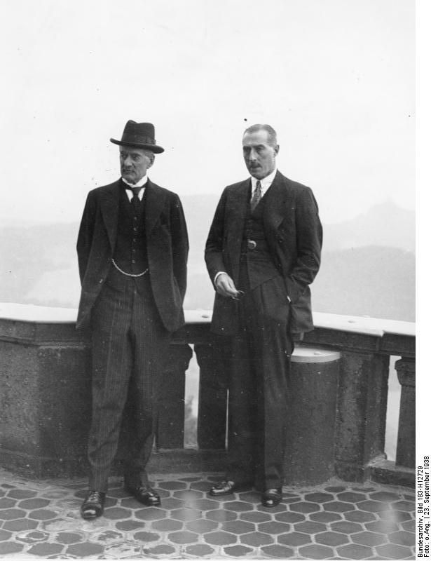 Nevile Henderson Right With Neville Chamberlain In Preparation Of