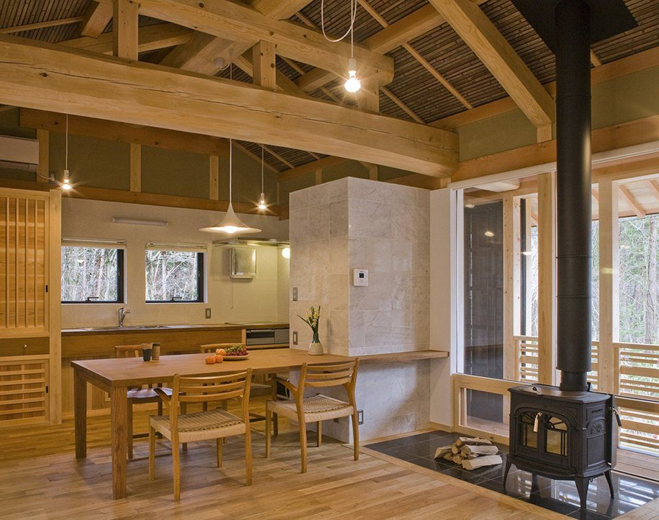 A New Small House Built In Traditional Japanese Style It