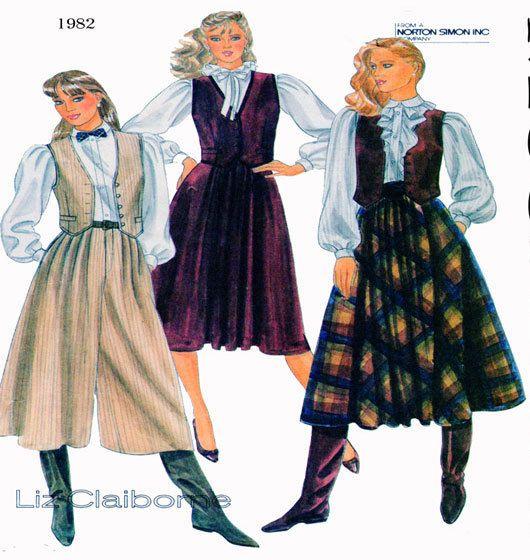 Women, Western Style Fashion, McCalls 8243, Sewing Pattern, Liz ...
