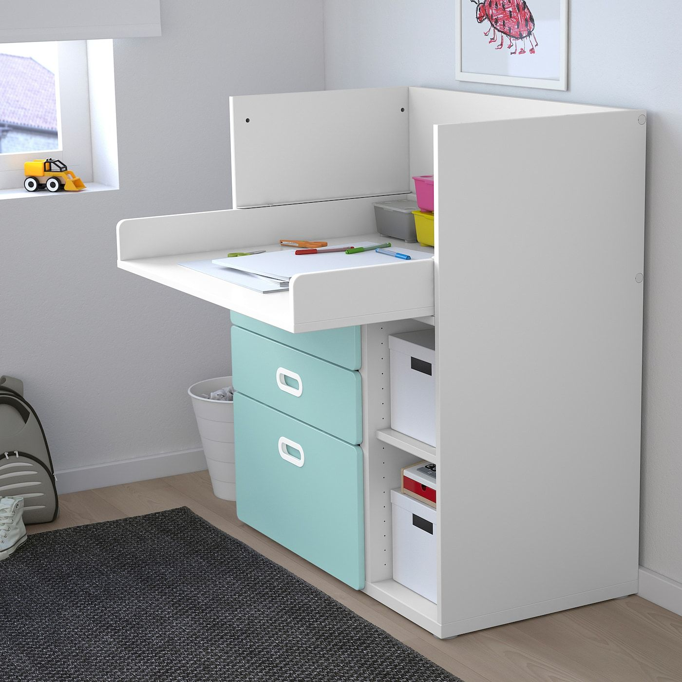 Stuva Fritids Changing Table With Drawers White Light Blue 35 3 8x31 1 8x40 1 8 In 2020 With Images Changing Table With Drawers Ikea Stuva White Changing Table