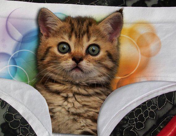 b9d6ef93d Cat underwear cat panties pussycat panties kitty panties | Cute Panties