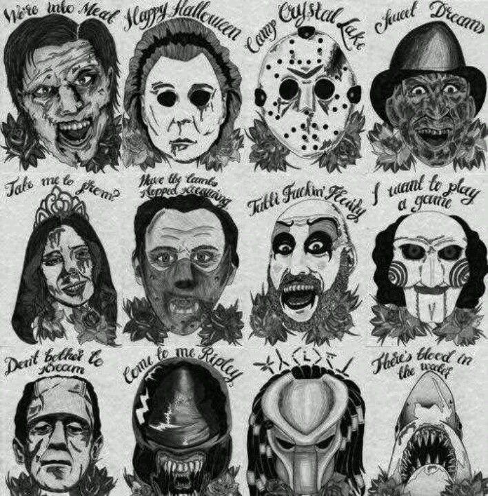 Royalty Of Horror Movie Tattoos Horror Movie Tattoos Halloween Tattoos