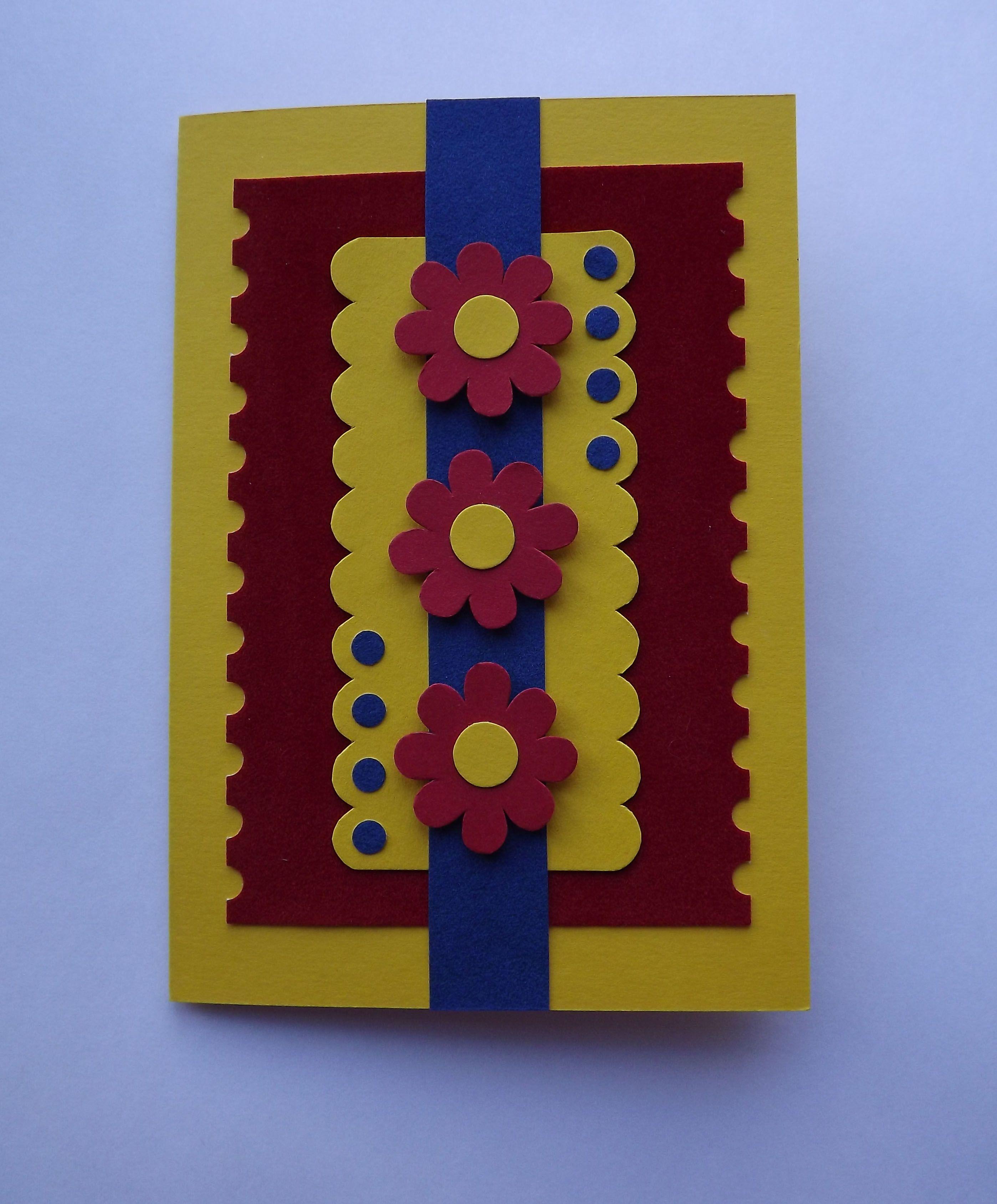 Открытка, желтая открытка своими руками