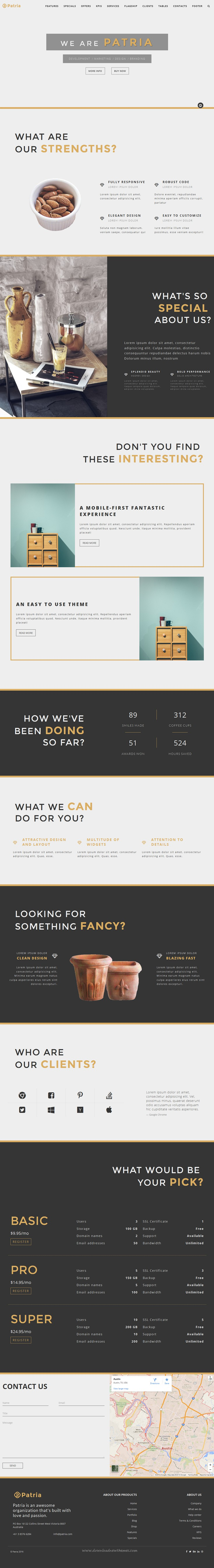 Patria is a stylish, multipurpose and fully responsive premium ...