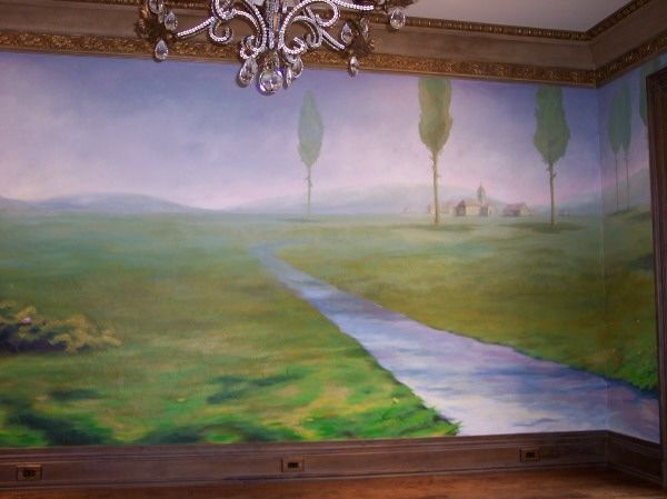 Dining Room Mural Www.artistjasonjones.com · Mosquito NetPainted  WallsKitchen ...