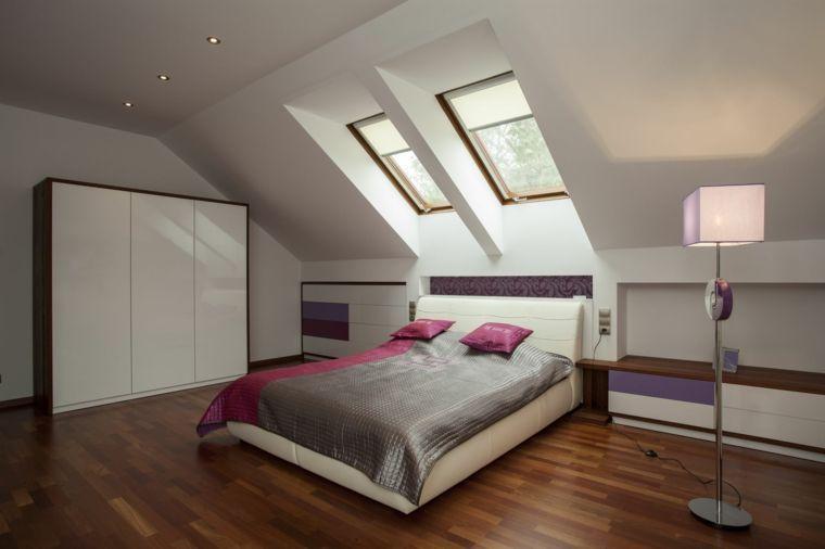 camera da letto con armadio, mobili bassi e struttura letto bianchi ...
