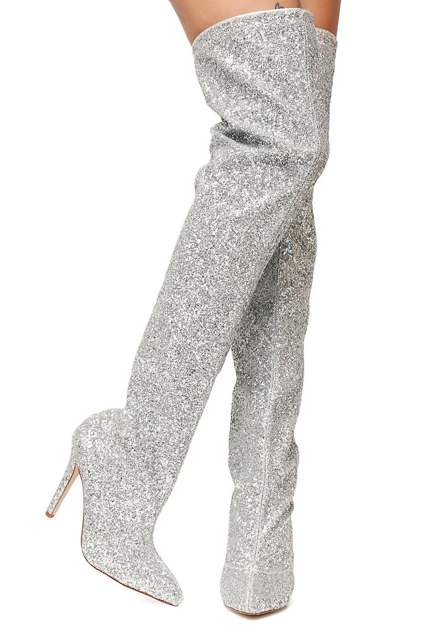 Glitz N' Glamour Glitter Thigh-High