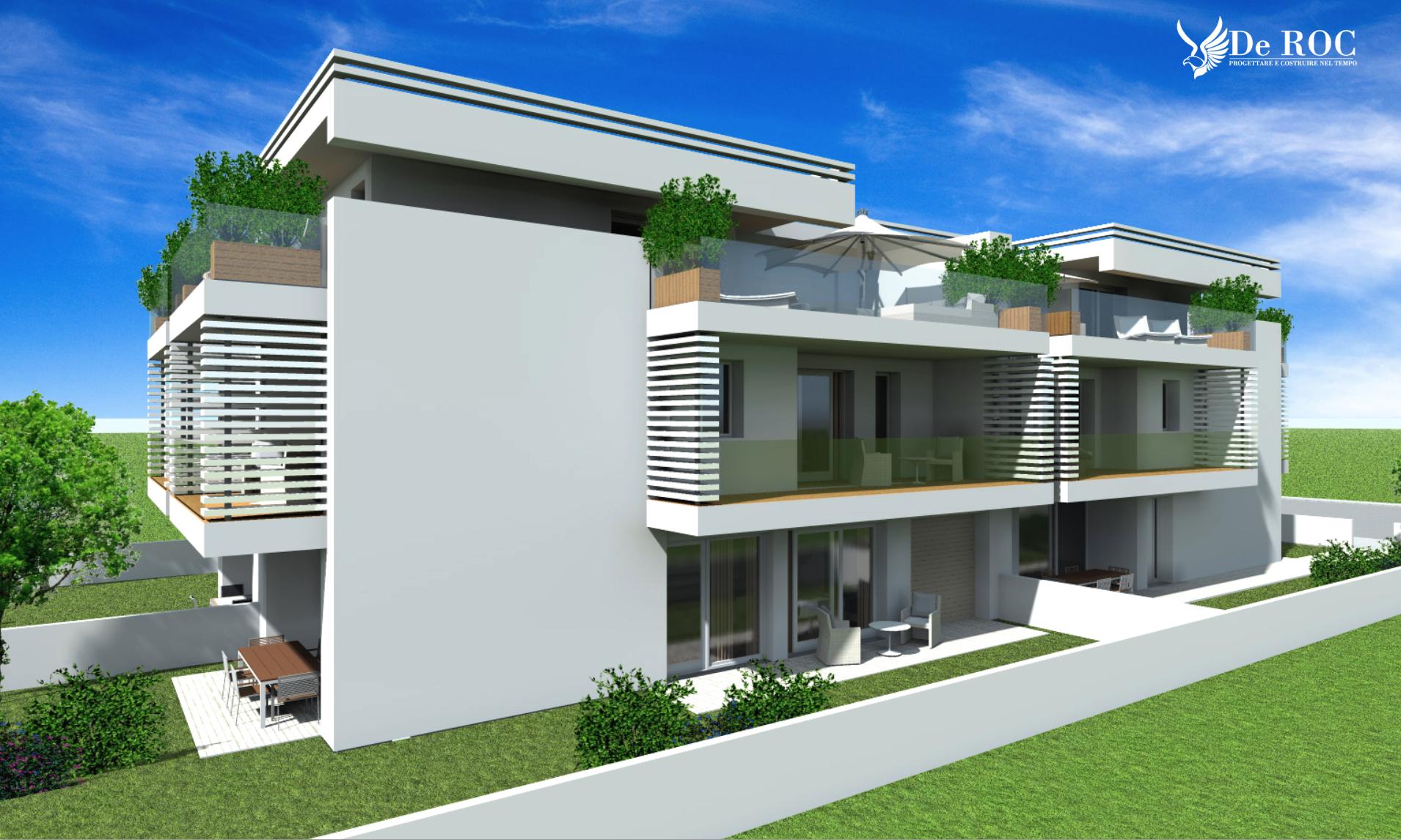 Due ville bifamiliari per quattro unit abitative ecco la for Progetti ville bifamiliari moderne