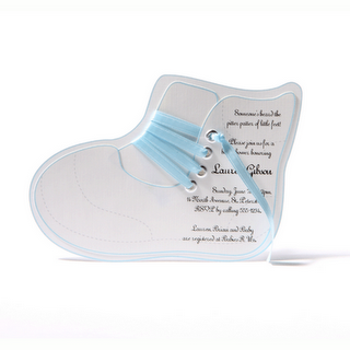 This baby shoe invite is so cute