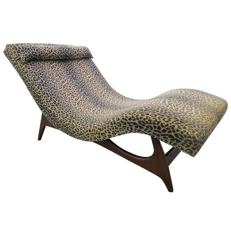 Sleek Adrian Pearsall Wave Chaise Lounge Chair Mid Century Danish