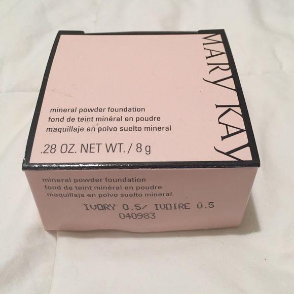 NWT Mary Kay mineral powder: Ivory 0.5  Never opened brand new Mary Kay mineral powder foundation! This color is Ivory 0.5 Mary Kay Makeup Foundation