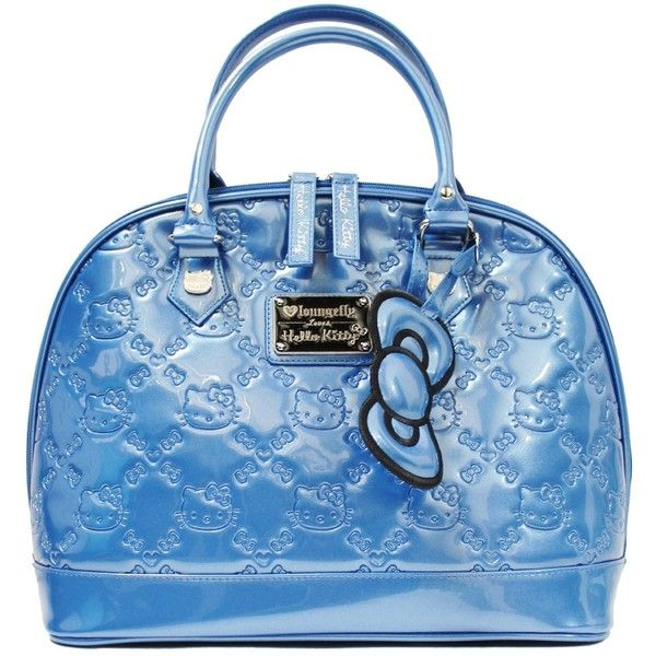 595a74840b Loungefly Hello Kitty True Blue Patent Embossed Tote Bag ( 59) ❤ liked on  Polyvore featuring bags