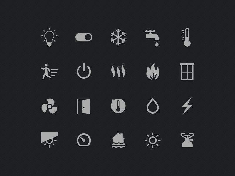 Icons for Smart Home UI by Alexis Larin