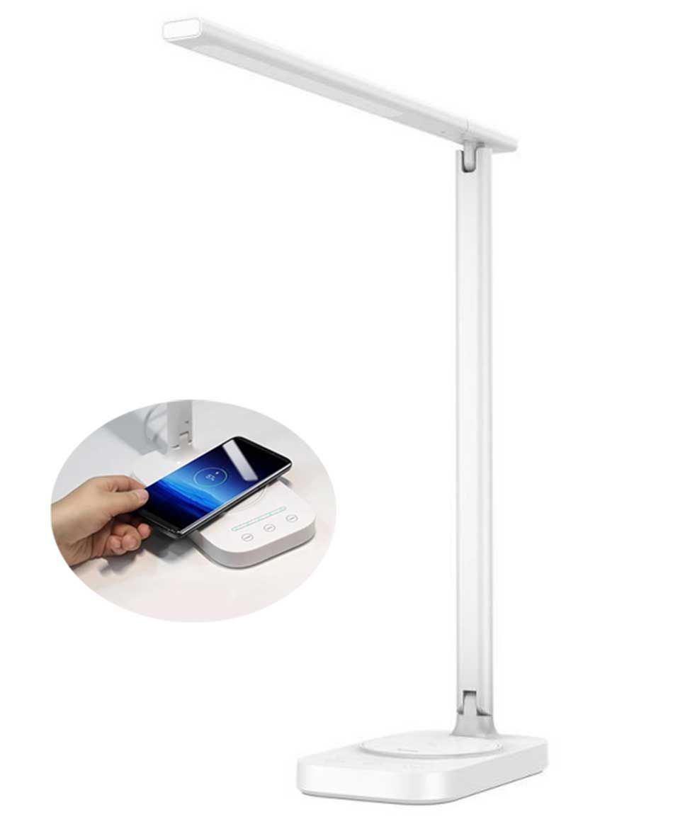Baseus 2 In 1 Led Table Lamp Qi Wireless Charger In 2020 Led Table Lamp Table Lamp Led
