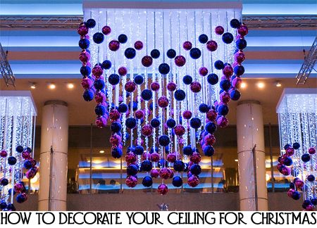 How To Decorate Your Ceiling For Christmas Purple Christmas Ornaments Christmas Decorations Ornaments Xmas Decorations