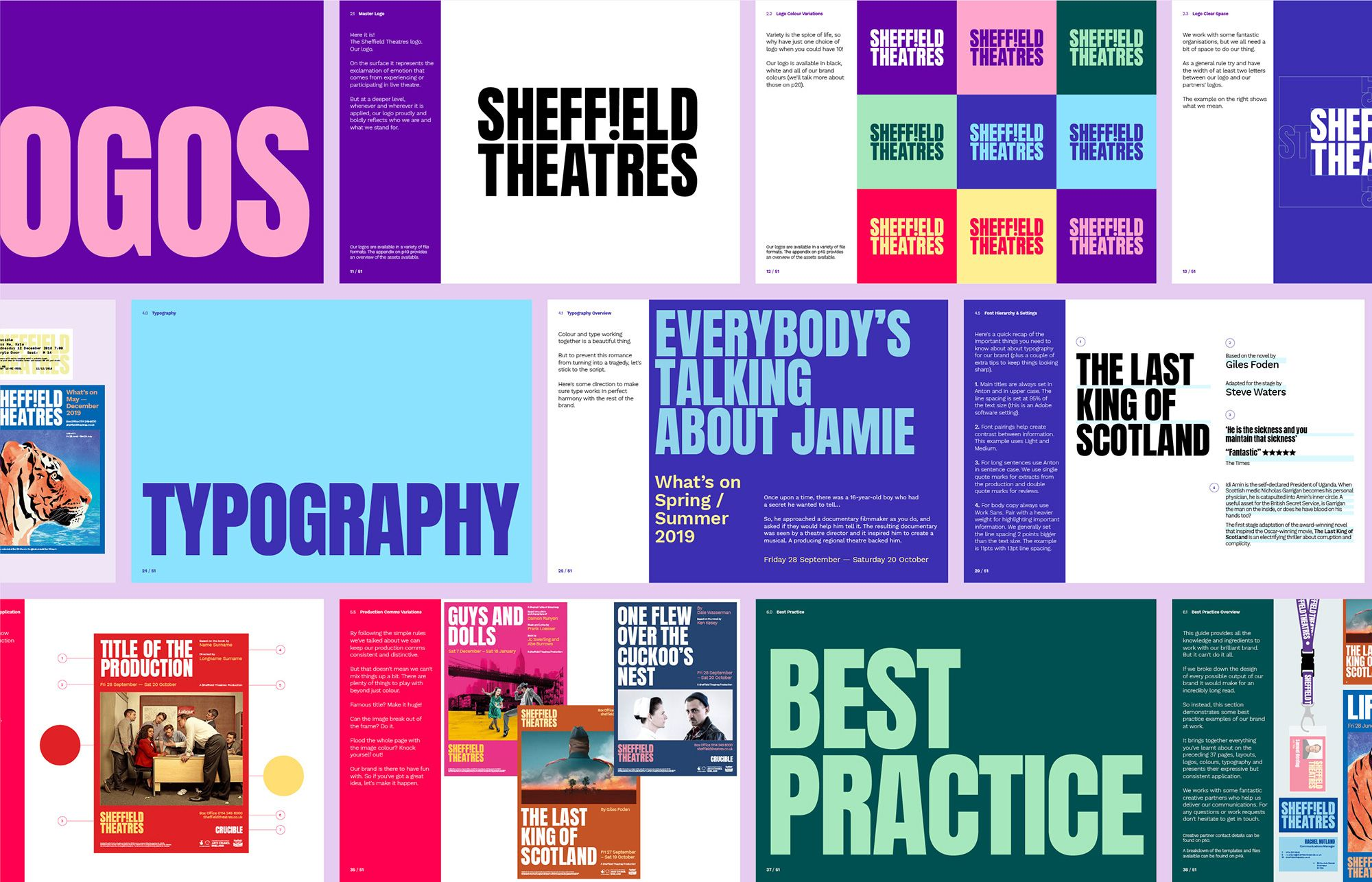 Brand New New Logo And Identity For Sheffield Theatres By Cafeteria In 2020 Brand Book Brand Guidelines Design Brand Guidelines