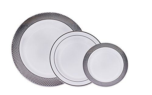 AVANT - 60 Premium Disposable Plastic Dinner Plates 20 di... /  sc 1 st  Pinterest & AVANT - 60 Premium Disposable Plastic Dinner Plates 20 di... https ...