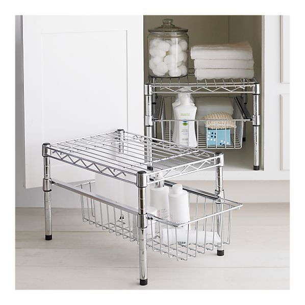 Small Cabinet Organizer With Drawer From Crate Barrel