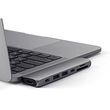 Amazon Com Satechi Aluminum Type C Pro Hub Adapter For 2016 Macbook Pro 13 And 15 40gbs Thunderbolt 3 4k Hdmi Macbook Pro Macbook Pro 2016 Macbook Pro 13