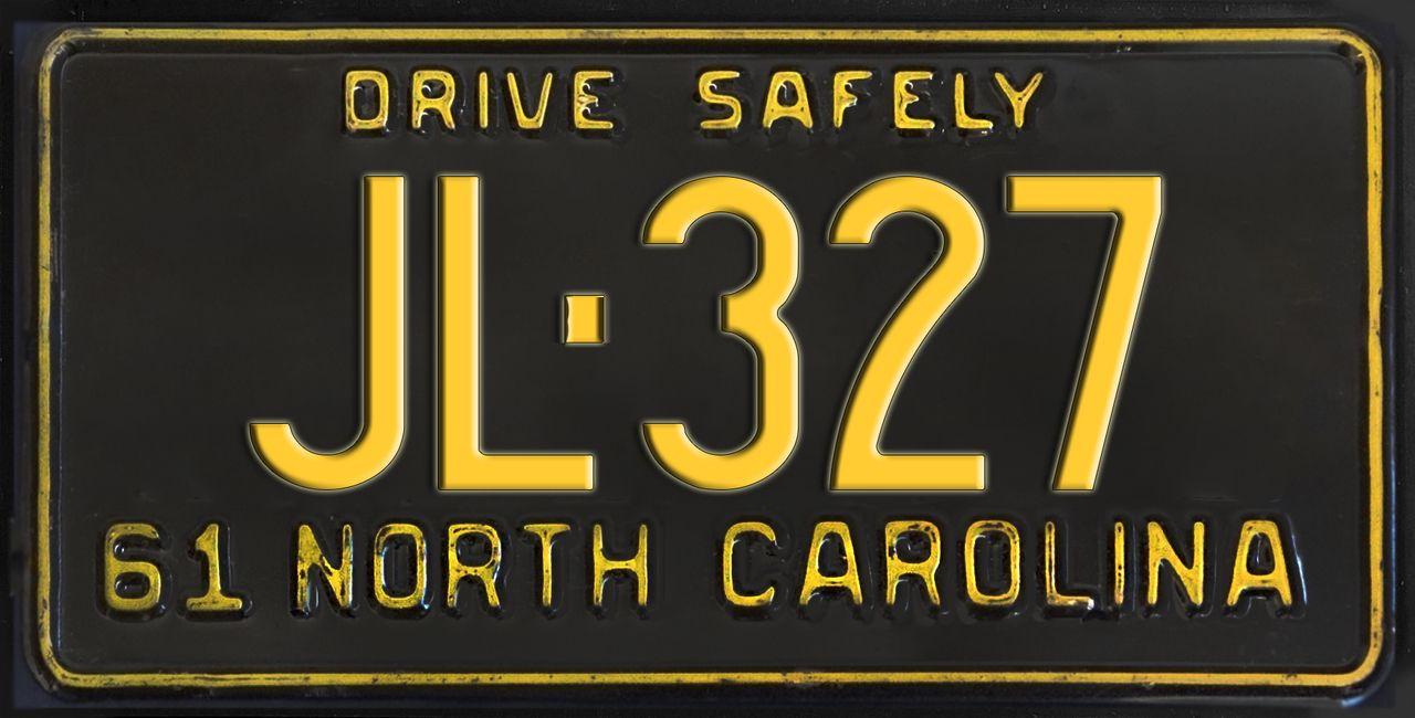 Chief North Carolina Vanity NOVELTY License Plate Law Enforcement