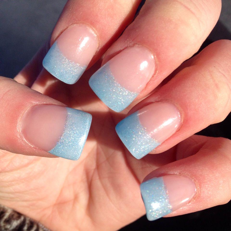 Light Blue Turquoise Sparkle Glitter Acrylic Nail Design Art Acrylic Nail Designs Nails Acrylic Nails