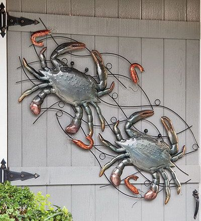 Crab And Shrimp Metal Wall Sculpture Best Selling For The Home Outdoor Metal Wall Art Metal Wall Sculpture Wall Sculptures