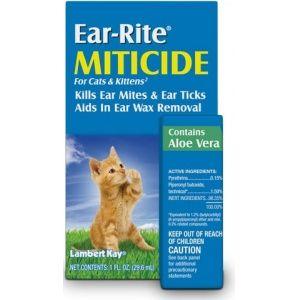 Lambert Kay Ear Rite Miticide For Cats Kittens Helps Kill Ear Mites Ear Ticks While Aiding In Ear Wa Dog Shampoo Ear Wax Removal Dog Food Comparison Chart