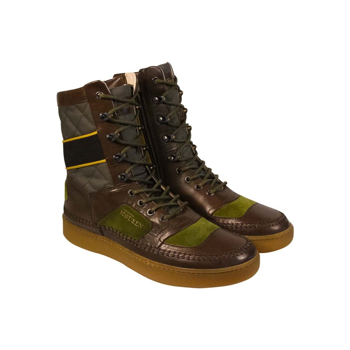 A new winter boot style for men. Puma X Alexander McQueen AMQ Joust Boot in Green  Ash 732fa7215
