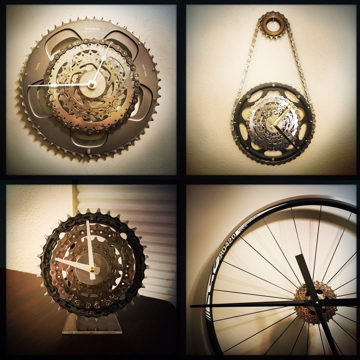 Large wall clock bike gift for men industrial decor unique wall large wall clock bike gift for men industrial decor unique wall clock steampunk decor mountain biker gift steampunk wall clock amipublicfo Images