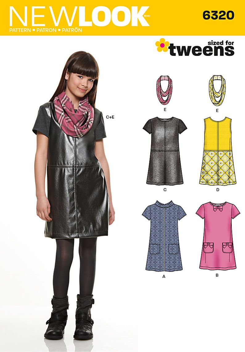New look girlus dress or jumper and scarf clothes pinterest