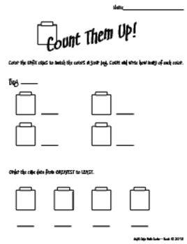 Count Them Up Unifix Cube Math Center Activity Free On Teachers